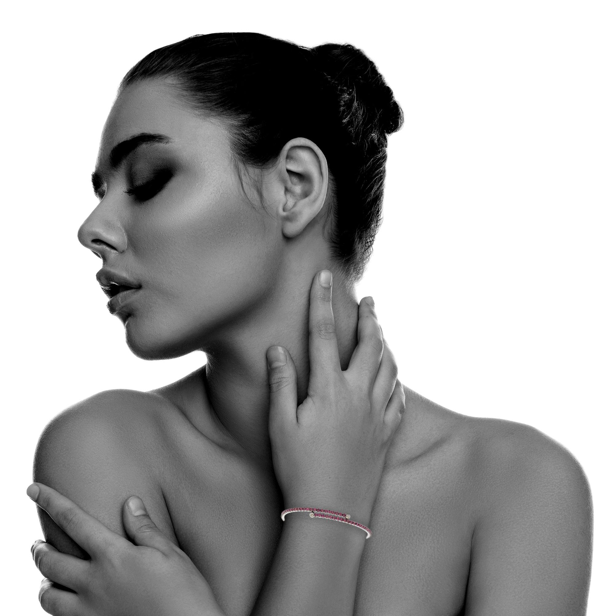 Womens-Ladies-Fashion-Accessories-Jewelry-Black-Rhodium-Plated-Bangle-Bracelet thumbnail 8