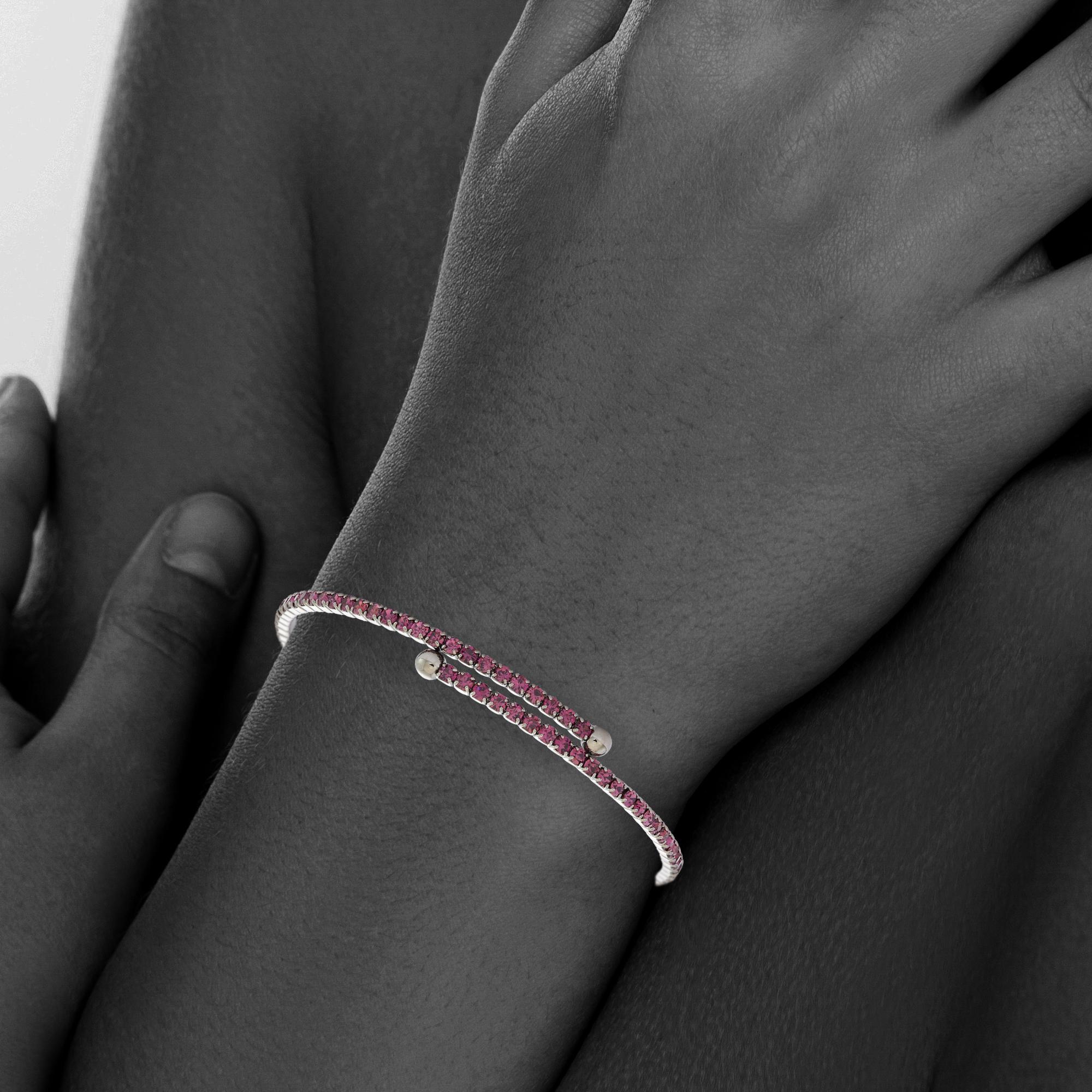 Womens-Ladies-Fashion-Accessories-Jewelry-Black-Rhodium-Plated-Bangle-Bracelet thumbnail 10