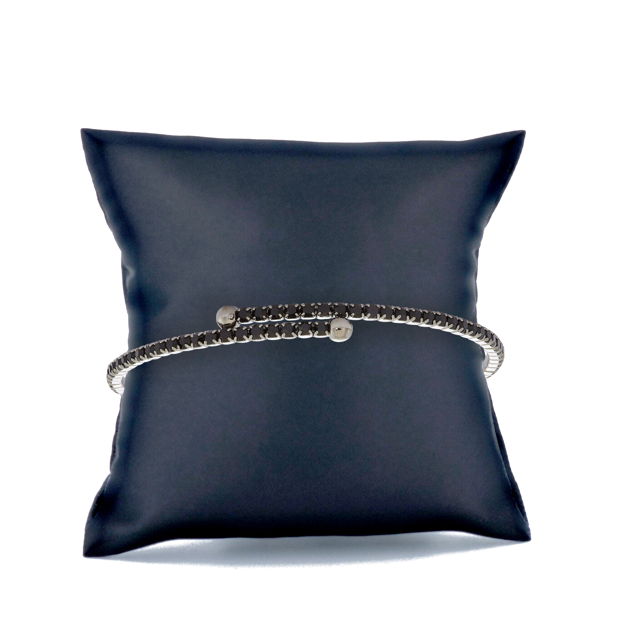 Womens-Ladies-Fashion-Accessories-Jewelry-Black-Rhodium-Plated-Bangle-Bracelet thumbnail 16