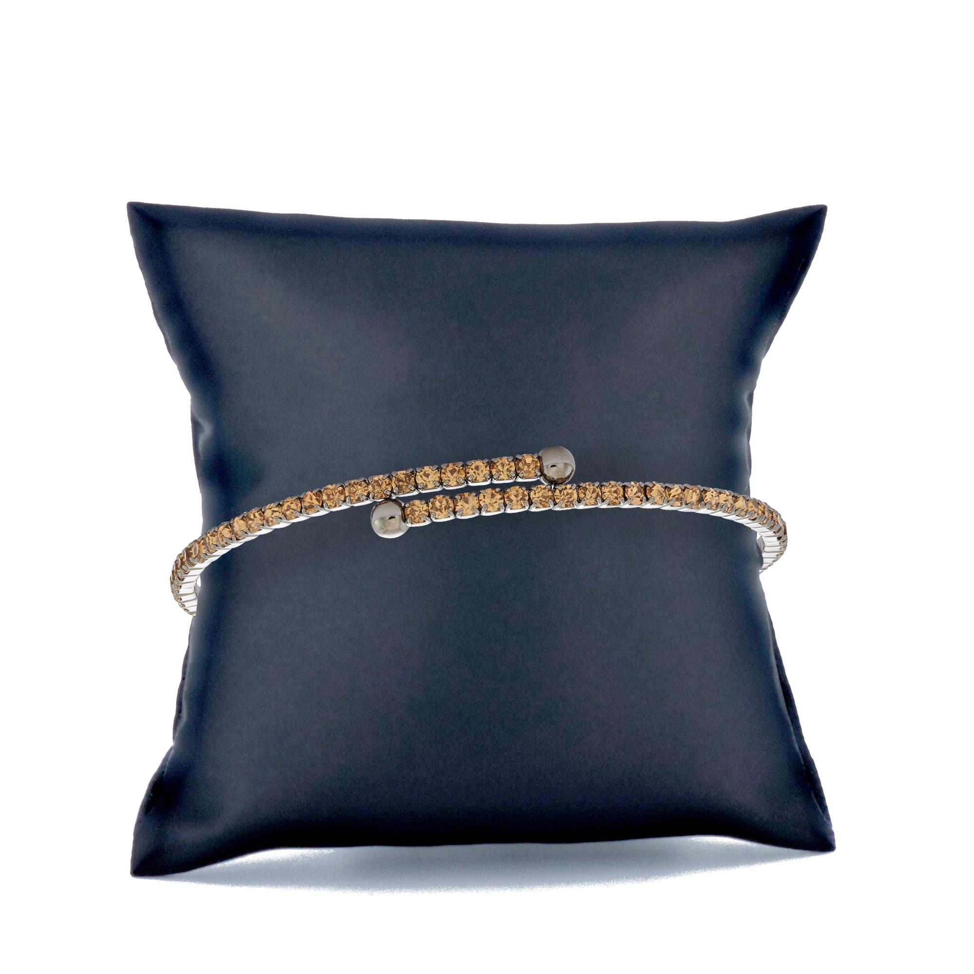 Womens-Ladies-Fashion-Accessories-Jewelry-Black-Rhodium-Plated-Bangle-Bracelet thumbnail 25