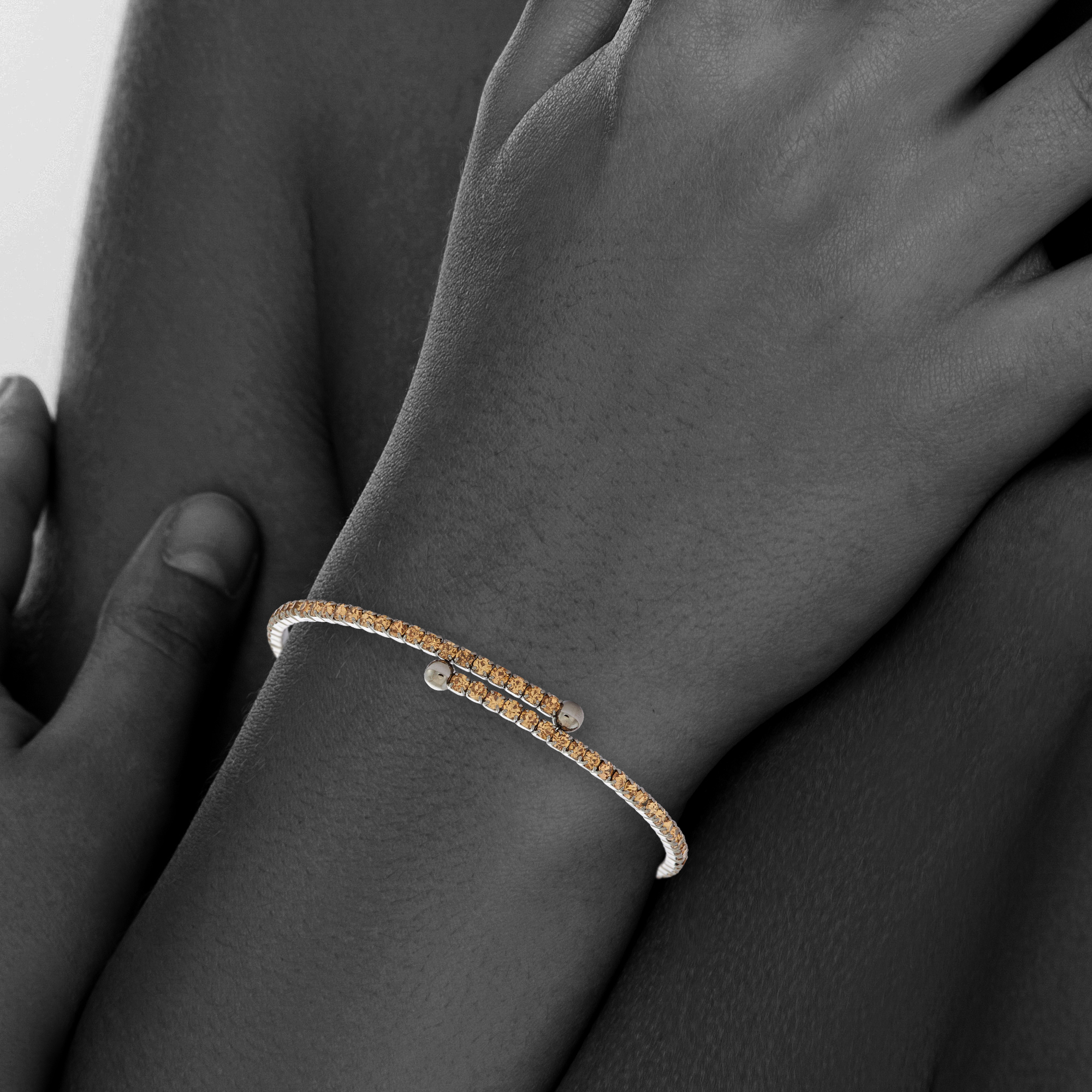 Womens-Ladies-Fashion-Accessories-Jewelry-Black-Rhodium-Plated-Bangle-Bracelet thumbnail 28