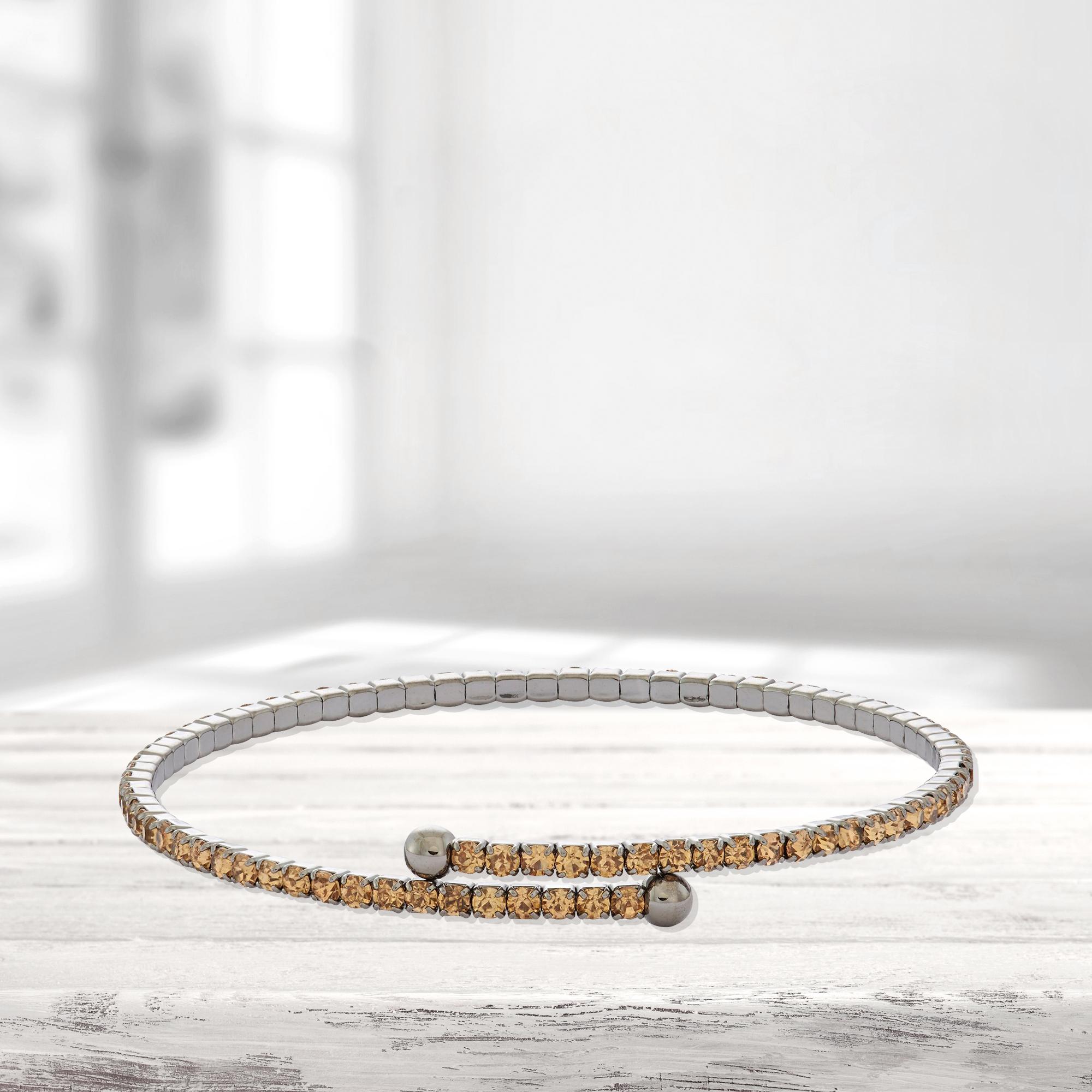 Womens-Ladies-Fashion-Accessories-Jewelry-Black-Rhodium-Plated-Bangle-Bracelet thumbnail 31