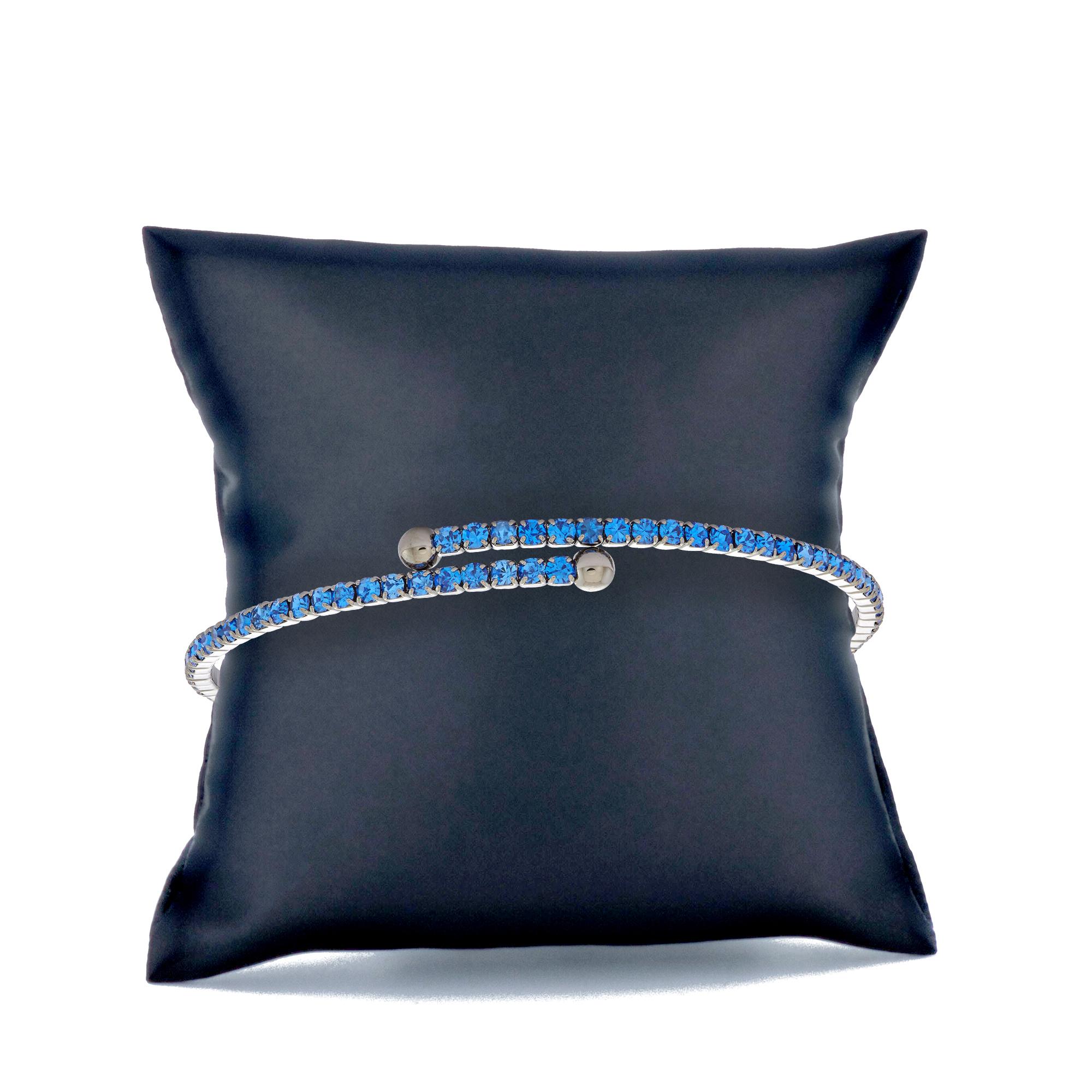 Womens-Ladies-Fashion-Accessories-Jewelry-Black-Rhodium-Plated-Bangle-Bracelet thumbnail 34
