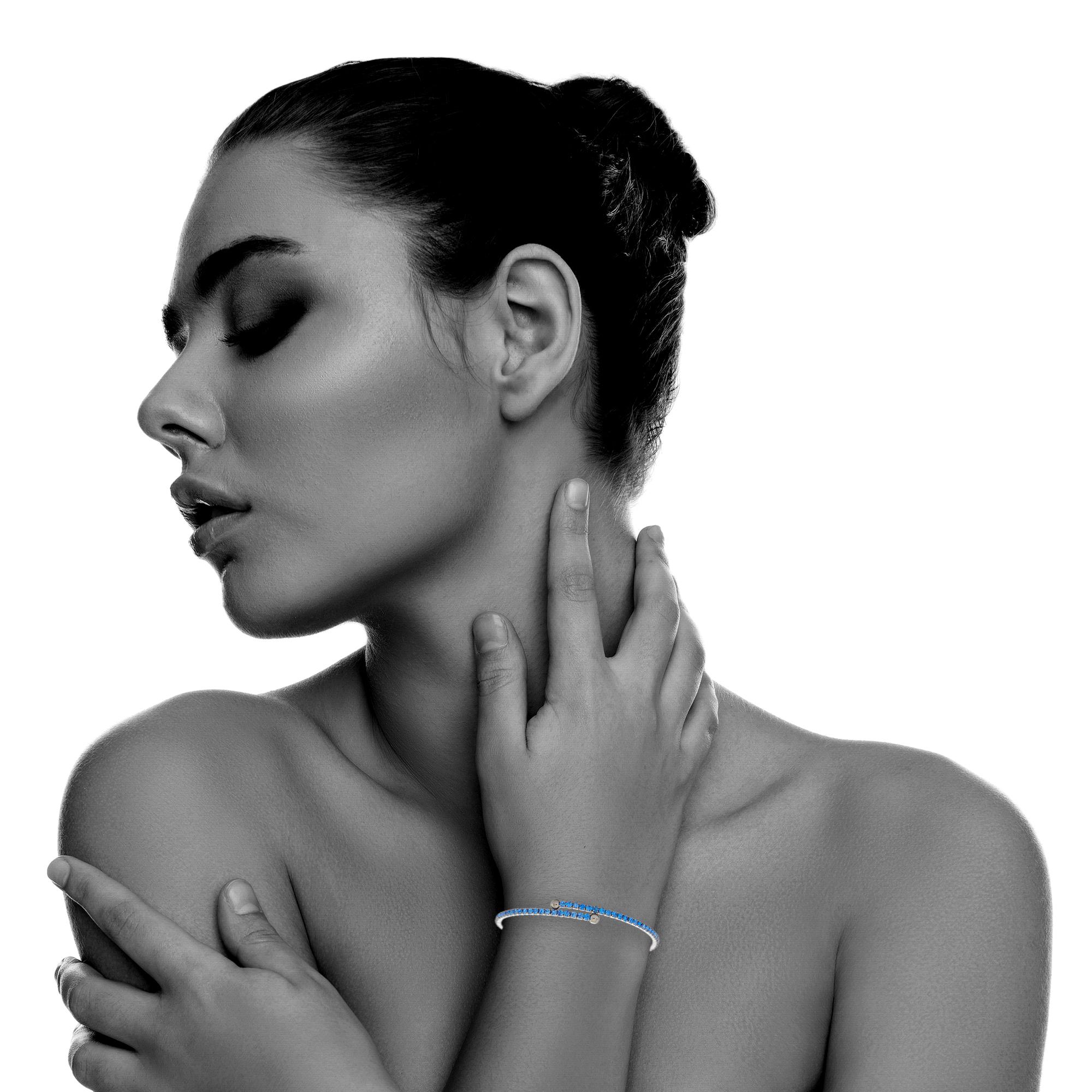 Womens-Ladies-Fashion-Accessories-Jewelry-Black-Rhodium-Plated-Bangle-Bracelet thumbnail 35