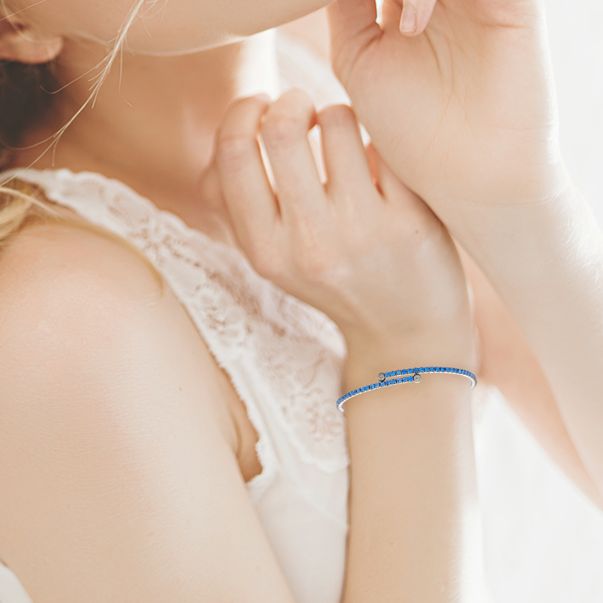 Womens-Ladies-Fashion-Accessories-Jewelry-Black-Rhodium-Plated-Bangle-Bracelet thumbnail 38