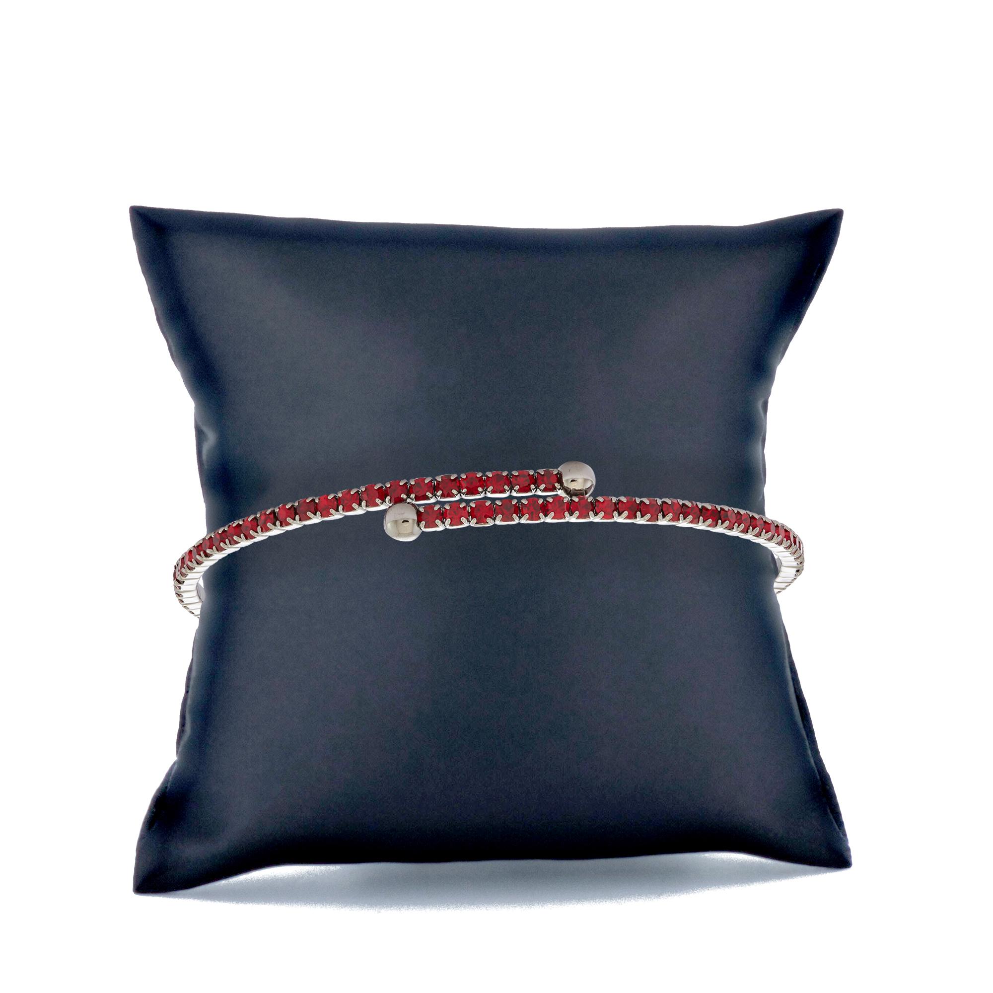 Womens-Ladies-Fashion-Accessories-Jewelry-Black-Rhodium-Plated-Bangle-Bracelet thumbnail 43