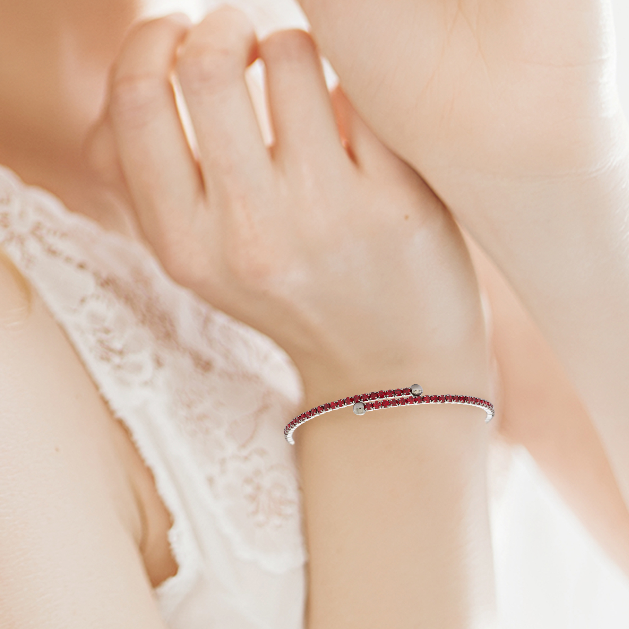 Womens-Ladies-Fashion-Accessories-Jewelry-Black-Rhodium-Plated-Bangle-Bracelet thumbnail 48